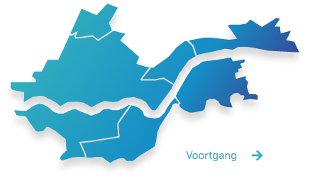 Kaart van de regio Rivierenland